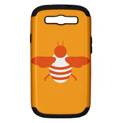 Littlebutterfly Illustrations Bee Wasp Animals Orange Honny Samsung Galaxy S Iii Hardshell Case (pc+silicone) by Alisyart