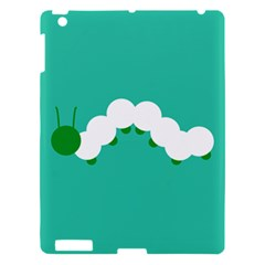 Little Butterfly Illustrations Caterpillar Green White Animals Apple Ipad 3/4 Hardshell Case by Alisyart