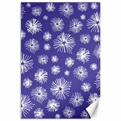 Aztec Lilac Love Lies Flower Blue Canvas 12  X 18   by Alisyart