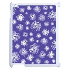 Aztec Lilac Love Lies Flower Blue Apple Ipad 2 Case (white) by Alisyart
