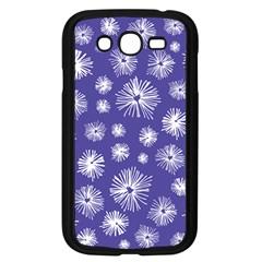 Aztec Lilac Love Lies Flower Blue Samsung Galaxy Grand Duos I9082 Case (black) by Alisyart