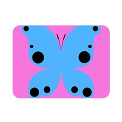Pink Blue Butterfly Animals Fly Double Sided Flano Blanket (mini)  by Alisyart