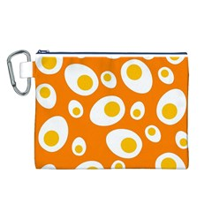 Orange Circle Egg Canvas Cosmetic Bag (l) by Alisyart