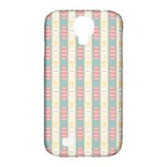 Rabbit Eggs Animals Pink Yellow White Rd Blue Samsung Galaxy S4 Classic Hardshell Case (pc+silicone) by Alisyart