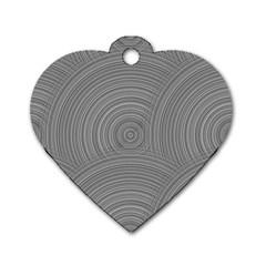 Circular Brushed Metal Bump Grey Dog Tag Heart (one Side) by Alisyart