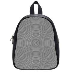 Circular Brushed Metal Bump Grey School Bags (small)  by Alisyart