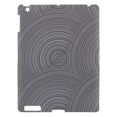Circular Brushed Metal Bump Grey Apple Ipad 3/4 Hardshell Case by Alisyart