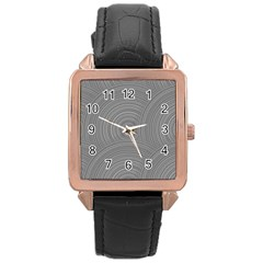 Circular Brushed Metal Bump Grey Rose Gold Leather Watch  by Alisyart