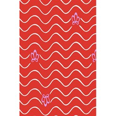 Springtime Wave Red Floral Flower 5 5  X 8 5  Notebooks by Alisyart