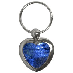 Blue Sequins Key Chains (heart)  by boho