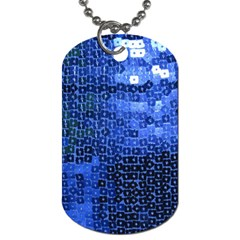 Blue Sequins Dog Tag (one Side) by boho