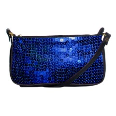 Blue Sequins Shoulder Clutch Bags by boho