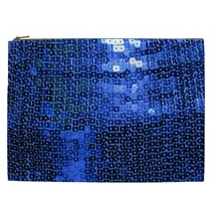 Blue Sequins Cosmetic Bag (xxl)  by boho