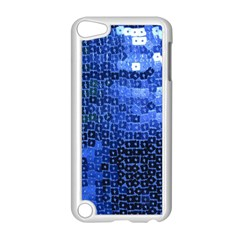 Blue Sequins Apple Ipod Touch 5 Case (white) by boho