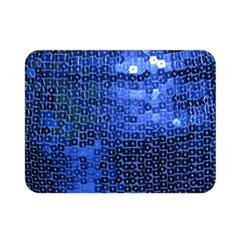 Blue Sequins Double Sided Flano Blanket (mini)  by boho