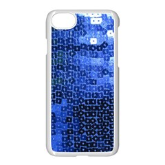 Blue Sequins Apple iPhone 7 Seamless Case (White) by boho