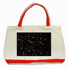 Black Stars Classic Tote Bag (red) by boho