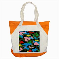 Rainbow Camouflage Accent Tote Bag by boho