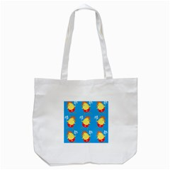 Easter Chick Tote Bag (white) by boho