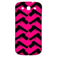 Pink Gun Samsung Galaxy S3 S Iii Classic Hardshell Back Case by boho