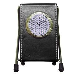 Purple Eyeballs Pen Holder Desk Clocks by boho