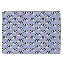 Purple Eyeballs Cosmetic Bag (xxl)  by boho