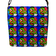Zombies Flap Messenger Bag (l)  by boho