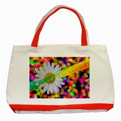 Happy Birthday Classic Tote Bag (red) by boho
