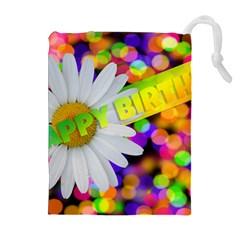 Happy Birthday Drawstring Pouches (extra Large) by boho