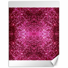 Pink Glitter Canvas 12  X 16   by boho