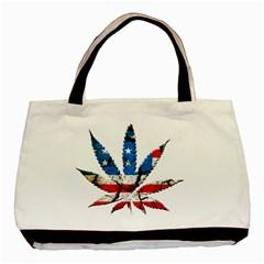 Marijuana Basic Tote Bag (two Sides) by boho