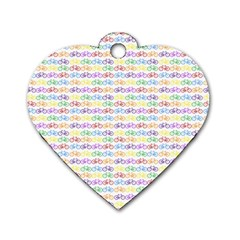 Bicycles Dog Tag Heart (one Side) by boho