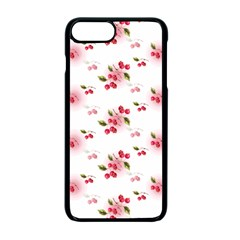 Vintage Cherry Apple Iphone 7 Plus Seamless Case (black) by boho