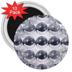 Disco Balls 3  Magnets (10 Pack)  by boho