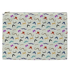 Mustaches Cosmetic Bag (xxl)  by boho