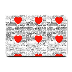 I Love You Small Doormat  by boho
