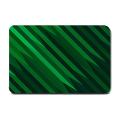 Abstract Blue Stripe Pattern Background Small Doormat  by Simbadda