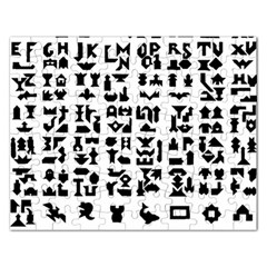 Anchor Puzzle Booklet Pages All Black Rectangular Jigsaw Puzzl by Simbadda
