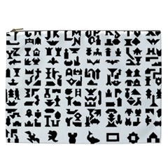 Anchor Puzzle Booklet Pages All Black Cosmetic Bag (xxl)  by Simbadda