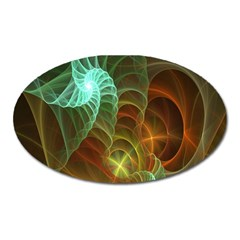 Art Shell Spirals Texture Oval Magnet by Simbadda