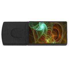 Art Shell Spirals Texture Usb Flash Drive Rectangular (4 Gb) by Simbadda
