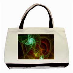 Art Shell Spirals Texture Basic Tote Bag (two Sides) by Simbadda