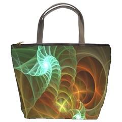 Art Shell Spirals Texture Bucket Bags by Simbadda