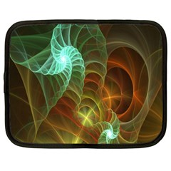 Art Shell Spirals Texture Netbook Case (xxl)  by Simbadda