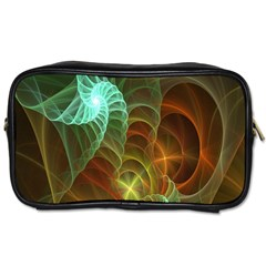 Art Shell Spirals Texture Toiletries Bags 2 Side by Simbadda