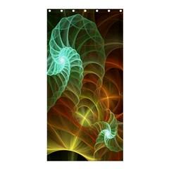 Art Shell Spirals Texture Shower Curtain 36  X 72  (stall)  by Simbadda