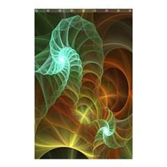 Art Shell Spirals Texture Shower Curtain 48  X 72  (small)  by Simbadda