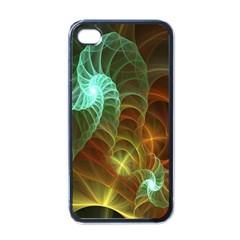 Art Shell Spirals Texture Apple Iphone 4 Case (black)