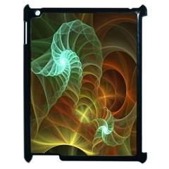 Art Shell Spirals Texture Apple Ipad 2 Case (black) by Simbadda