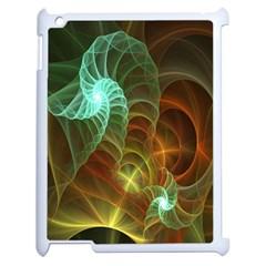 Art Shell Spirals Texture Apple Ipad 2 Case (white) by Simbadda